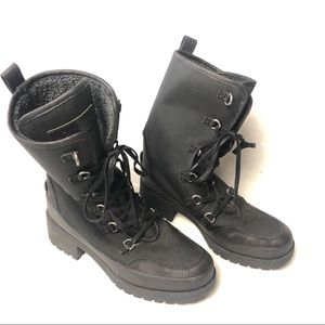 Lucky Brand alascan cozy snow boot black size 9